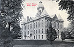 Postcard of the court house in Blair. Postmarked 1918.