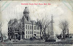 Postcard of the court house in Blair. Postmarked 1909.