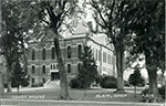 Monochrome postcard of the Washington County Courthouse in Blair. No date given. Postcard unused.