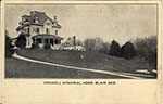 Monochrome postcard of the Crowell Memorial Home in Blair. Postmarked 1908.