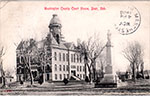 Postcard of the court house in Blair. Postmarked on the front 1908.